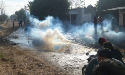 Represión en Ledesma. Foto: DyN