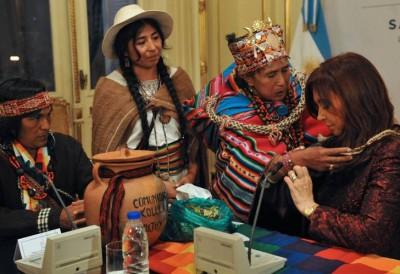 La Presidenta con los pueblos originarios