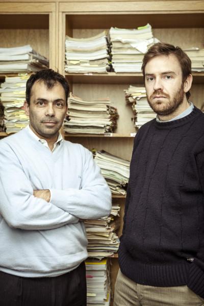 Los fiscales José Nebbia y Miguel Palazzani
